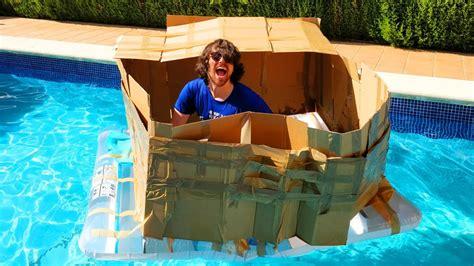 como hacer un barco gigante de carton creamos barco de cart 211 n que flota en el agua reto del