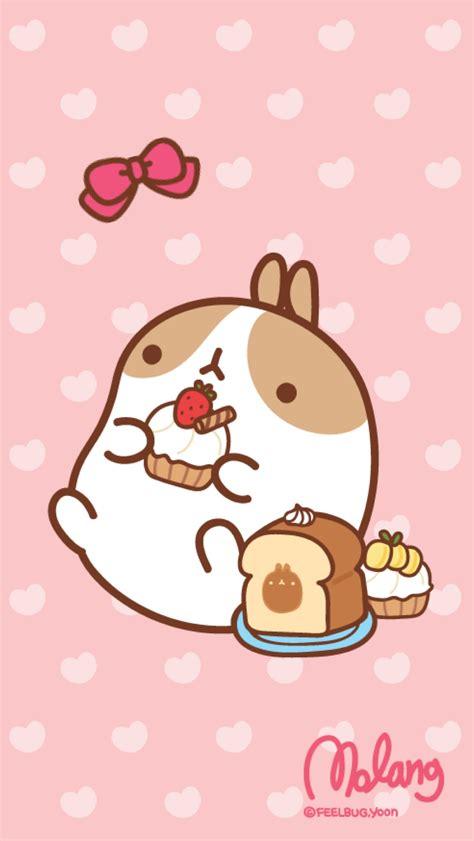 kawaii themes for iphone 6 plus molang cupcake lock screen kawaii cute pinterest