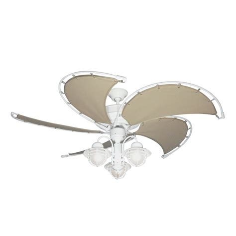 ceiling fans with fabric blades gulf coast nautical raindance outdoor ceiling fan with