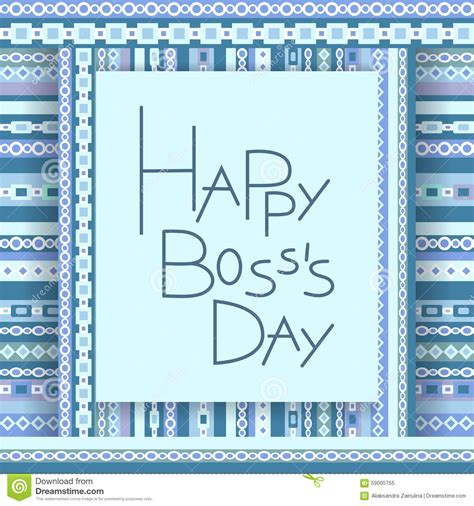 bosses day card template happy day invitation card stock vector image 59005755