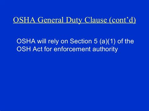osha section 5 a 1 workplace violence prevention training by osha