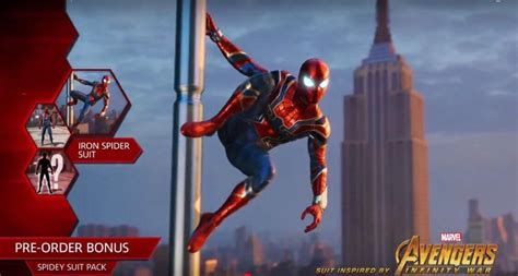 ps4 themes marvel spider man ps4 reveals iron spider suit from marvel s