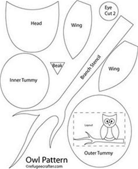 small owl template ducklingpond owl pattern 3