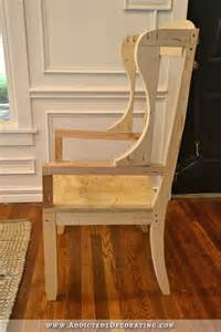 Diy Armchair Upholstery by Diy Wingback Dining Chair How To Build The Chair Frame