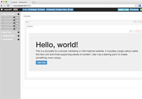 bootstrap layout design online bootstrap教學 layoutit 視覺化bootstrap線上編輯器 梅問題 教學網