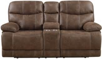 microfiber reclining loveseat with console earl sanded microfiber brown reclining console loveseat