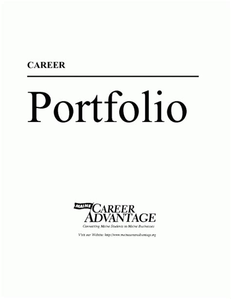 Pdf Ebook Career Portfolio Career Portfolio Cover Page Template