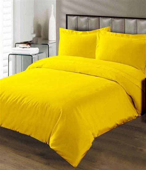 Yellow Bed Sheets by Pima Cotton Duvet Cover 200 Thread Count Solid King Size