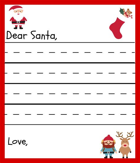 printable santa list letter free printable santa letters for kids