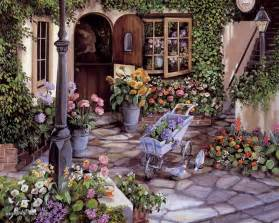 Thomas Kinkade Home Interiors Susan Rios Paintings Prints Fine Art Wallpaper