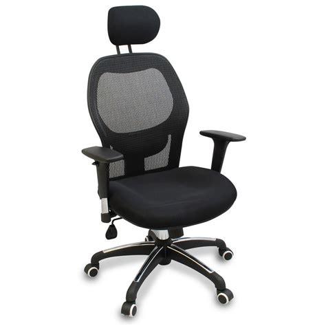 mesh ergonomic office chair  adjustable headrest arms  lumbar support ebay