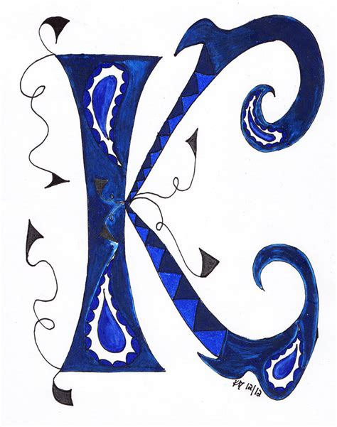 Letter K Drawing by The Letter K By Eviant00 On Deviantart