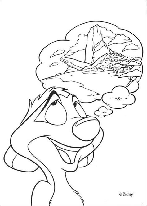 lion king timon coloring pages timon dreaming coloring pages hellokids com
