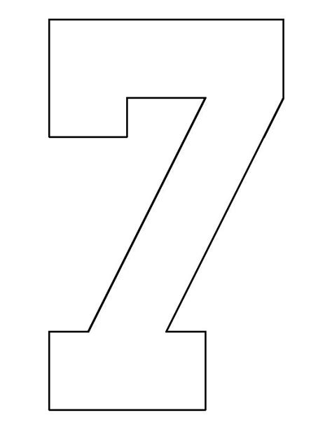 pattern between numbers number 7 pattern use the printable outline for crafts