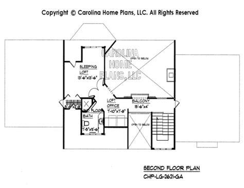 open to below house plans large open floor house plan chp lg 2621 ga sq ft large open floor home plan over