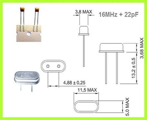 Keramik Kit mcu kit 1x quarz 16 mhz dip und 2x keramik kondensator