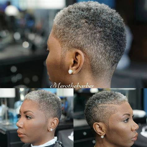 fade haircut for black women fade haircut with a part on a woman short natural
