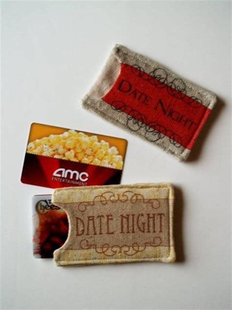 Date Night Gift Cards - date night gifts gift card holders and gift cards on pinterest