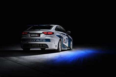geely showcases emgrand gl race car  super cup geely global media center
