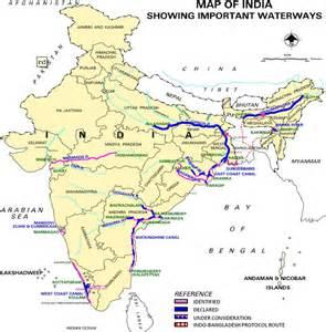 waterways map file national waterways of india png