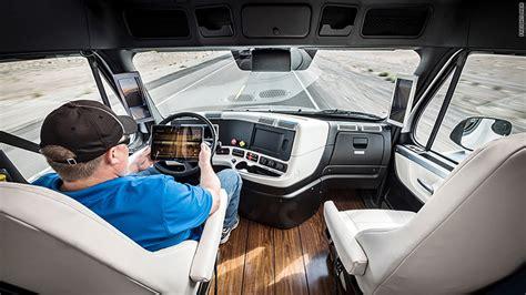 luxury trucks inside self driving semi hits the road