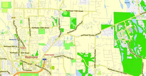 seattle map large seattle map large area with neighborhood washington us