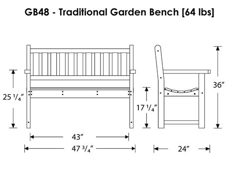 dimensions of bench pdf garden bench dimensions plans free