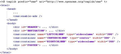 templates for jsp pages creating opencms container templates opencms wiki