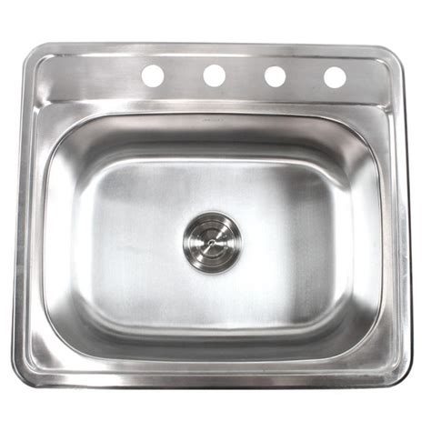 Top Stainless Steel Kitchen Sinks by Emoderndecor Top Mount Drop In Stainless Steel 18 25