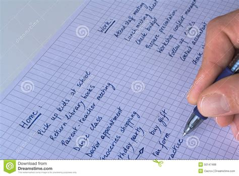 to do list stock photo image 50147488