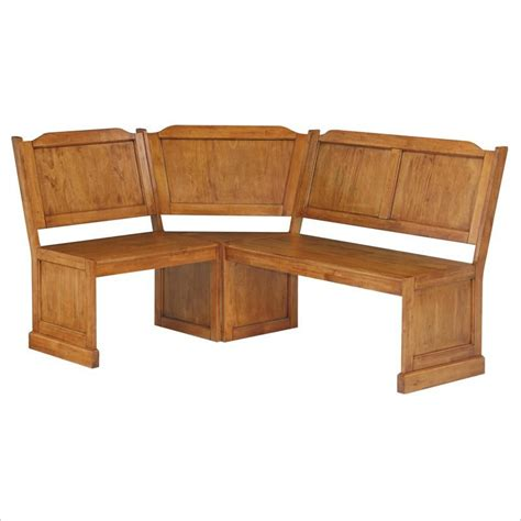 Kitchen Bench And Table Home Styles Wood Kitchen Dining Nook Corner Bench Distressed Oak Ebay