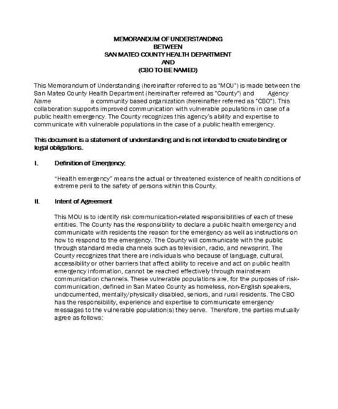 template for a memorandum of understanding 50 free memorandum of understanding templates word ᐅ
