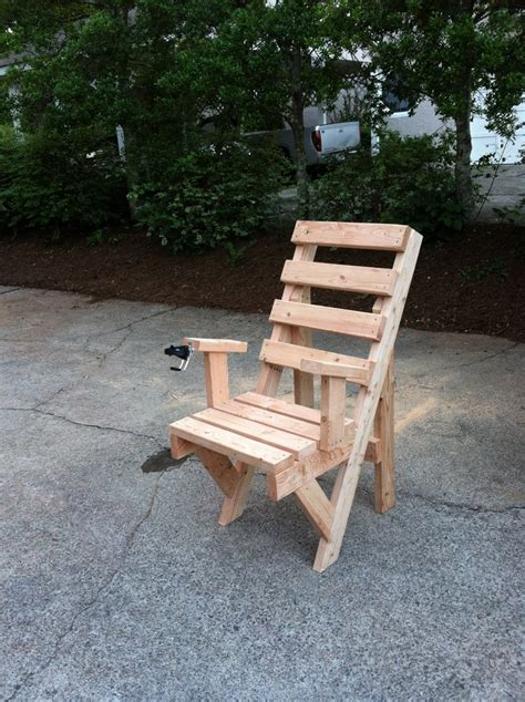 diy 2x4 outdoor chair furniture pinterest