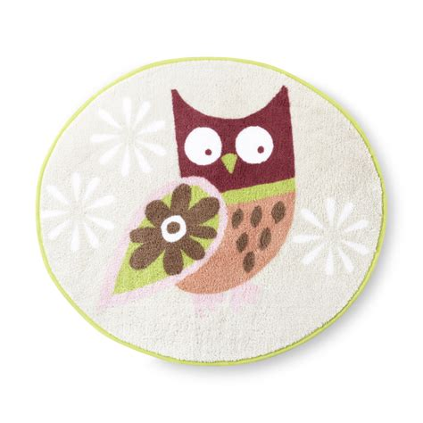 owl rugs essential home owl bath rug