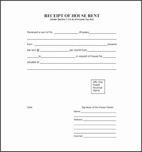 House Rent Receipt Template Xls by 4 House Rent Receipt Template Sletemplatess