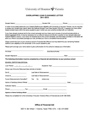 Loan Clearance Letter Format Fillable Uhv Overlapping Loan Clearance Letter Of Houston Uhv Fax