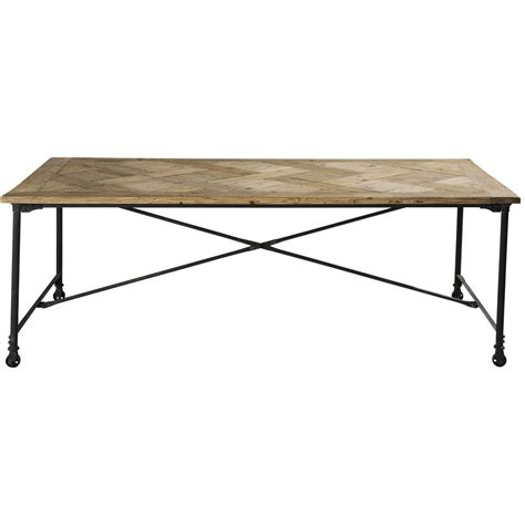 wood and metal dining table w 220cm mirabeau maisons du