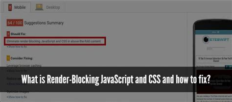 how to fix render what is render blocking javascript and css and how to fix