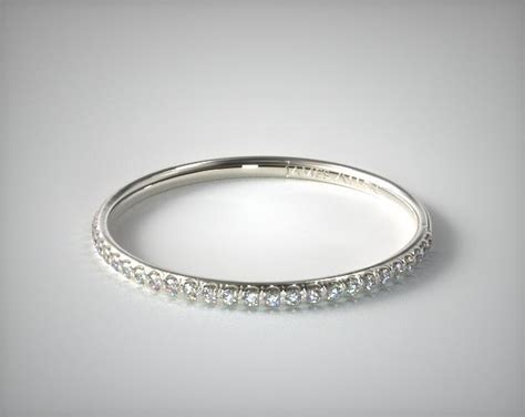 Wedding Bands Allen by Pave Rounded Wedding Band 14k White Gold Allen
