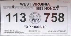 new car temporary registration virginia temporary tag