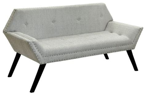 fabric benches furniture furniture of america sondra tufted fabric bench beige