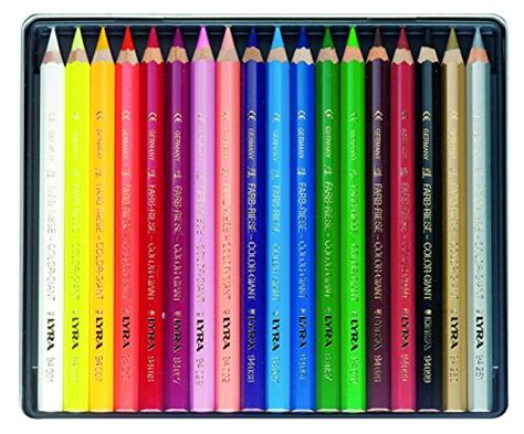 Lyra Ferby Lacquered Pencil Set 6 lyra color giants lacquered colored pencils 6 25mm cores set of 18 assorted c ebay