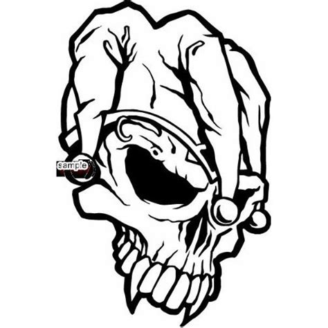 joker face coloring pages amazon com joker skull face with large fangs skull white