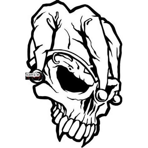 Kaos Skull Joker Lp joker skull with large fangs skull white vinyl decal sticker automobiles