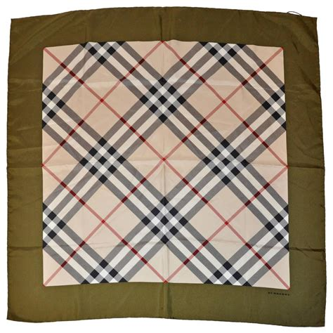 burberry iconic signature quot plaid quot silk scarf for sale at