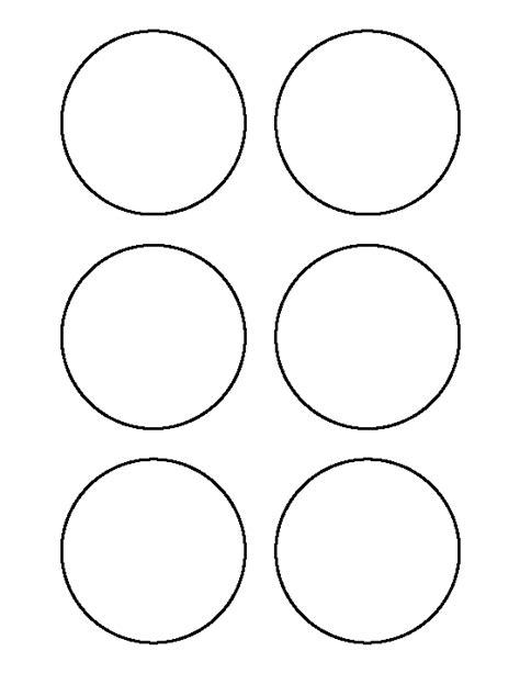 3 inch circle pattern use the printable outline for