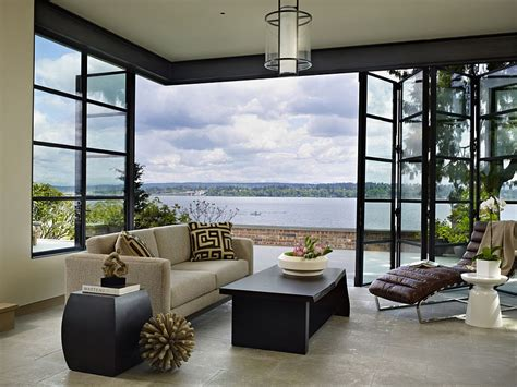 Gallery Room With A View by Classic Seattle Lakefront House Gets A Bookish Modern Twist