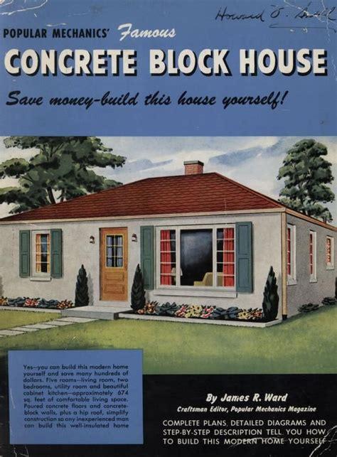 Concrete Block House Plans Florida | popular mechanics famous concrete block house popular