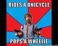 Unicycle Meme - chuck norris on pinterest chuck norris chuck norris