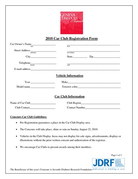team registration form template best photos of club application form template club